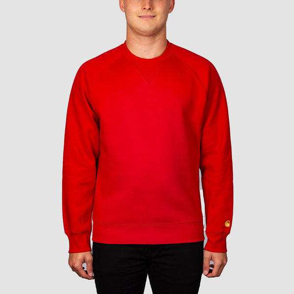 Carhartt WIP Chase Crew Sweat Etna Red/Gold