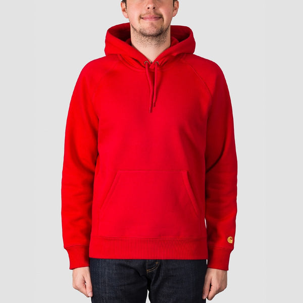 Carhartt WIP Chase Pullover Hood Cardinal/Gold - Clothing