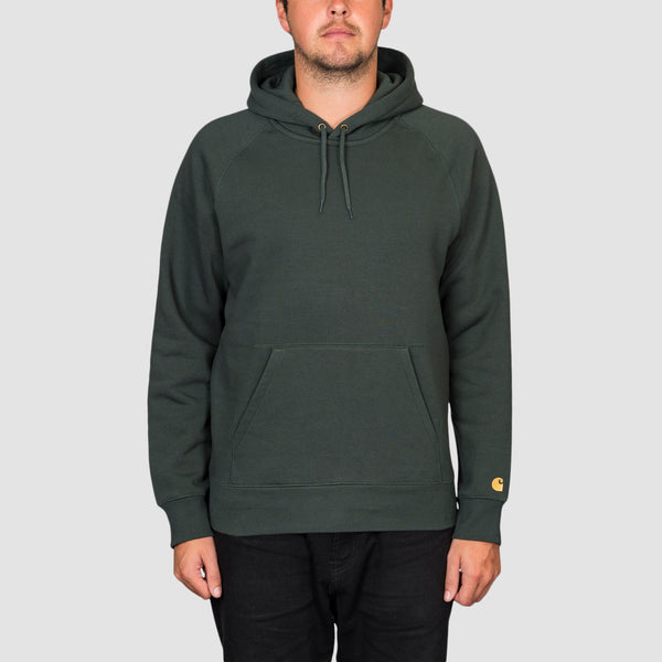 Carhartt WIP Chase Pullover Hood Dark Teal/Gold