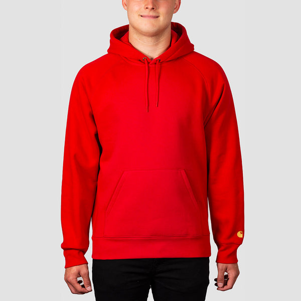 Carhartt WIP Chase Pullover Hood Etna Red/Gold