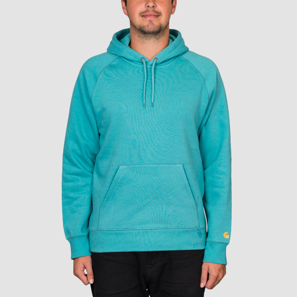 Carhartt WIP Chase Pullover Hood Frosted Turquoise/Gold