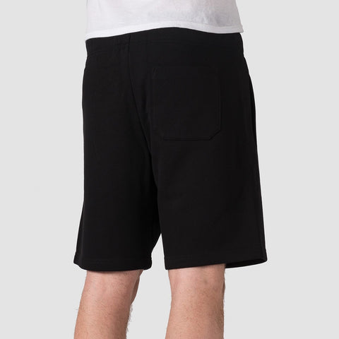 Carhartt WIP Chase Sweat Shorts Black/Gold - Clothing