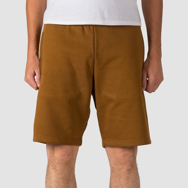 Carhartt WIP Chase Sweat Shorts Hamilton Brown/Gold - Clothing
