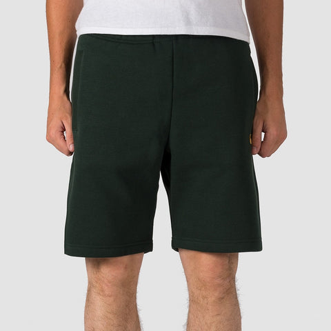 Carhartt WIP Chase Sweat Shorts Loden/Gold