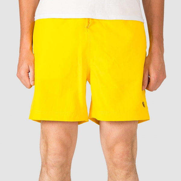 Carhartt WIP Chase Swim Trunks Primula/Gold - Clothing