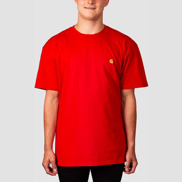 Carhartt WIP Chase Tee Etna Red/Gold