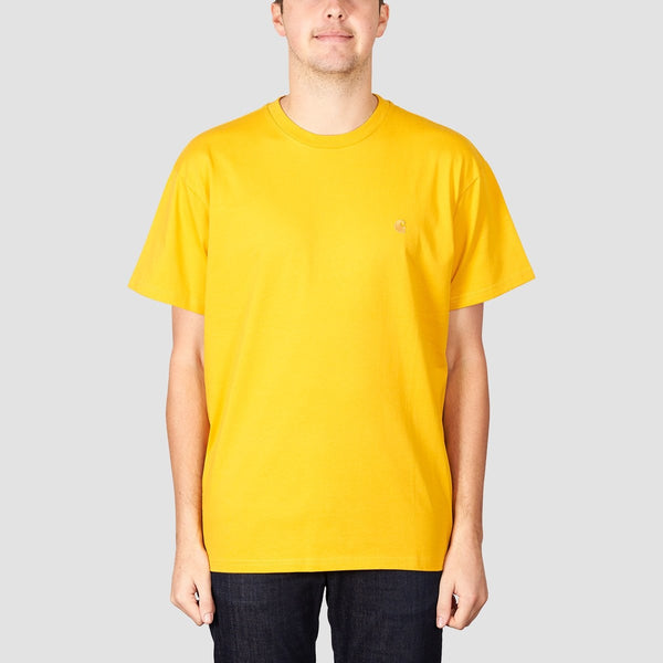 Carhartt WIP Chase Tee Quince/Gold - Clothing