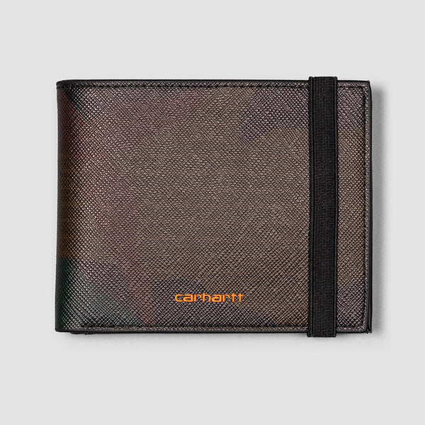 Carhartt WIP Coated Billfold Wallet Camo Evergreen/Brick Orange