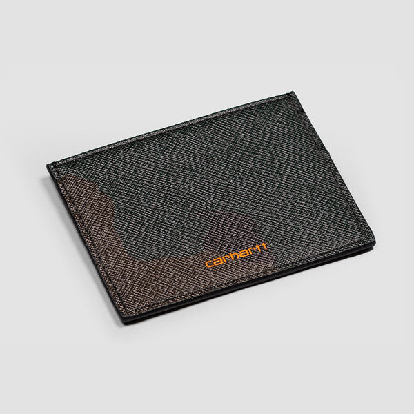 Carhartt WIP Coated Card Holder Camo Evergreen/Brick Orange