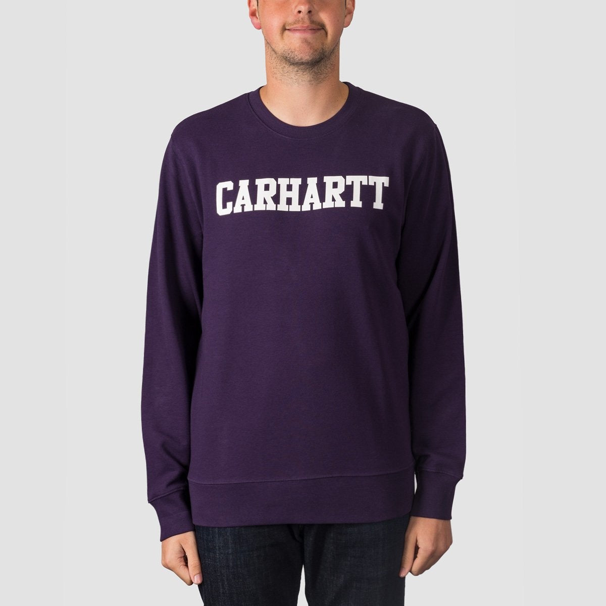 Carhartt WIP College Crew Sweat Lakers/White - Clothing