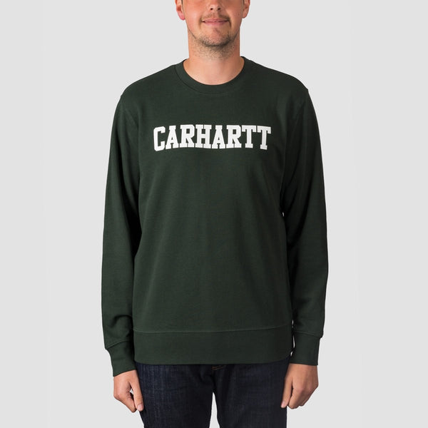Carhartt WIP College Crew Sweat Loden/White - Clothing