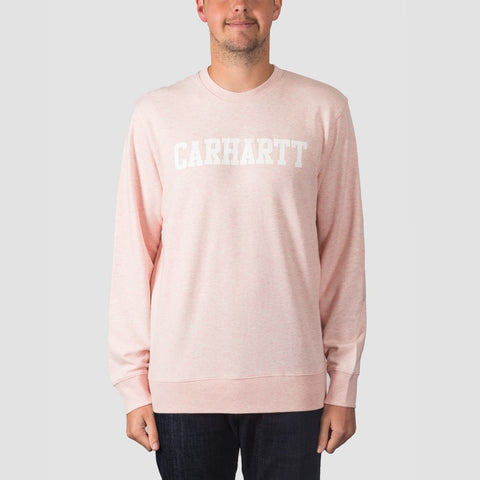 Carhartt WIP College Crew Sweat Sandy Rose Heather/White
