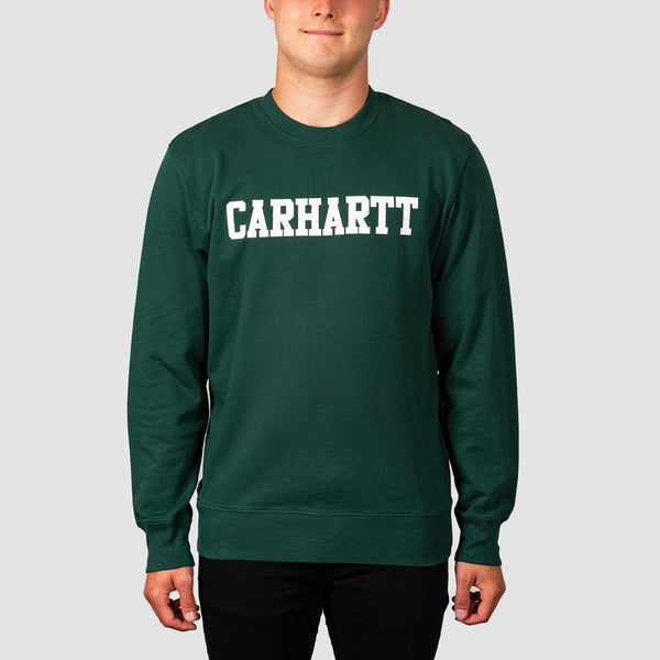 Carhartt WIP College Crew Sweat Treehouse/White