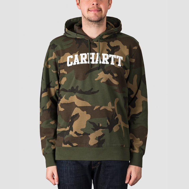 Carhartt WIP College Pullover Hood Camo Laurel/White - Clothing