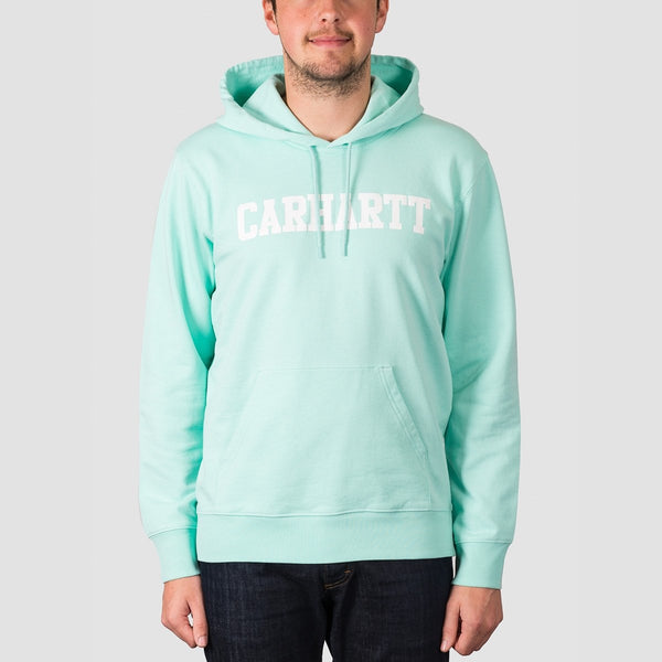 Carhartt WIP College Pullover Hood Light Yucca/White - Clothing