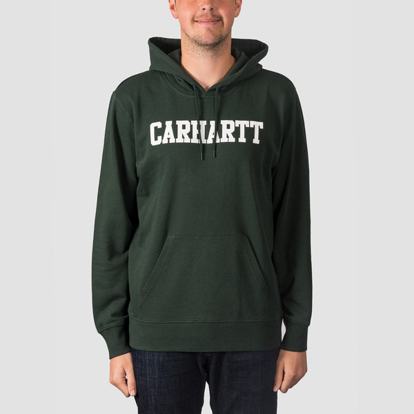 Carhartt WIP College Pullover Hood Loden/White - Clothing