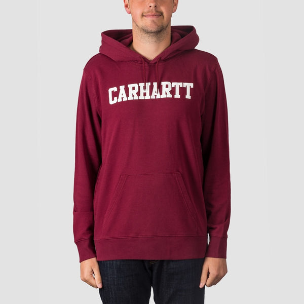 Carhartt WIP College Pullover Hood Mulberry/White - Clothing