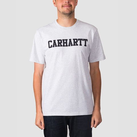 Carhartt WIP College Tee Ash Heather/Dark Navy