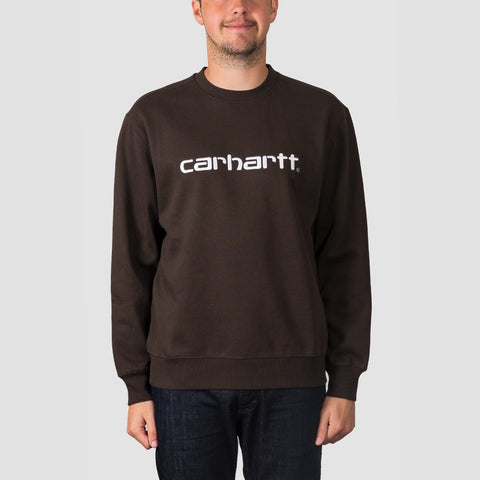 Carhartt WIP Crew Sweat Tobacco/White