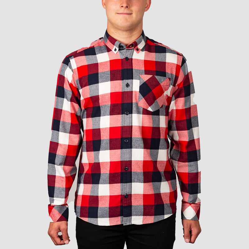 Carhartt WIP Keagan Longsleeve Check Shirt Etna Red