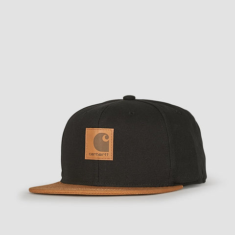 Carhartt WIP Logo Bi-Colored Snapback Cap Black/Hamilton Brown