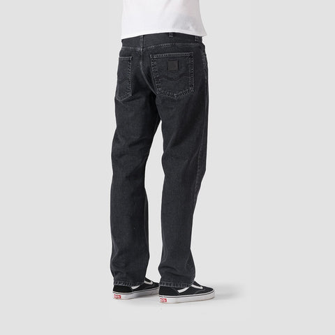 Carhartt WIP Marlow Pants Black Stone Washed - Clothing