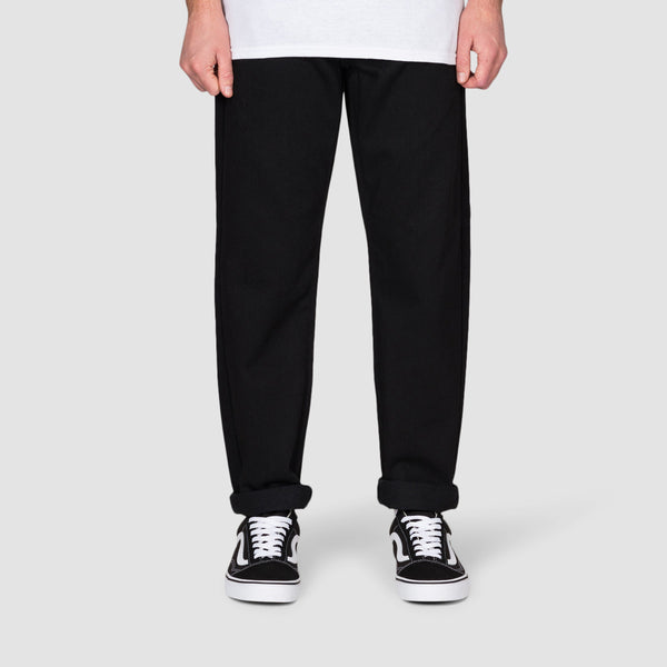 Carhartt WIP Newel Relaxed Tapered Jeans Black Rinsed