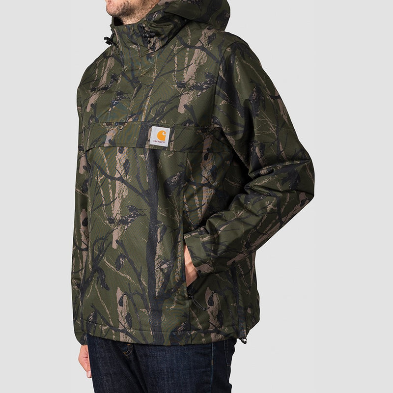 Carhartt WIP Nimbus Pullover Jacket Camo Tree Green - Clothing