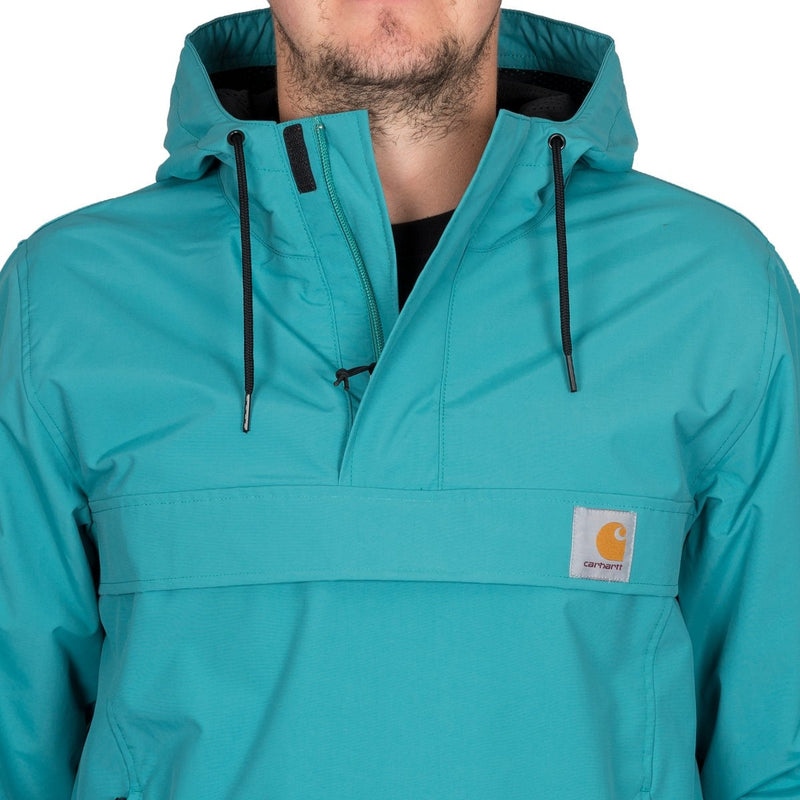 Carhartt WIP Nimbus Pullover Jacket Soft Teal - Clothing
