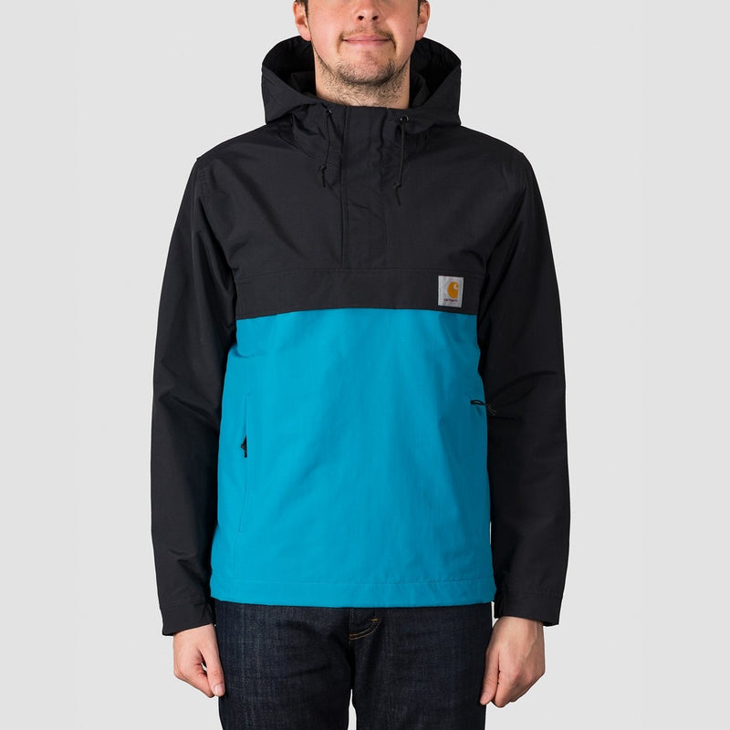 Carhartt WIP Nimbus Two Tone Pullover Jacket Black/Pizol - Clothing