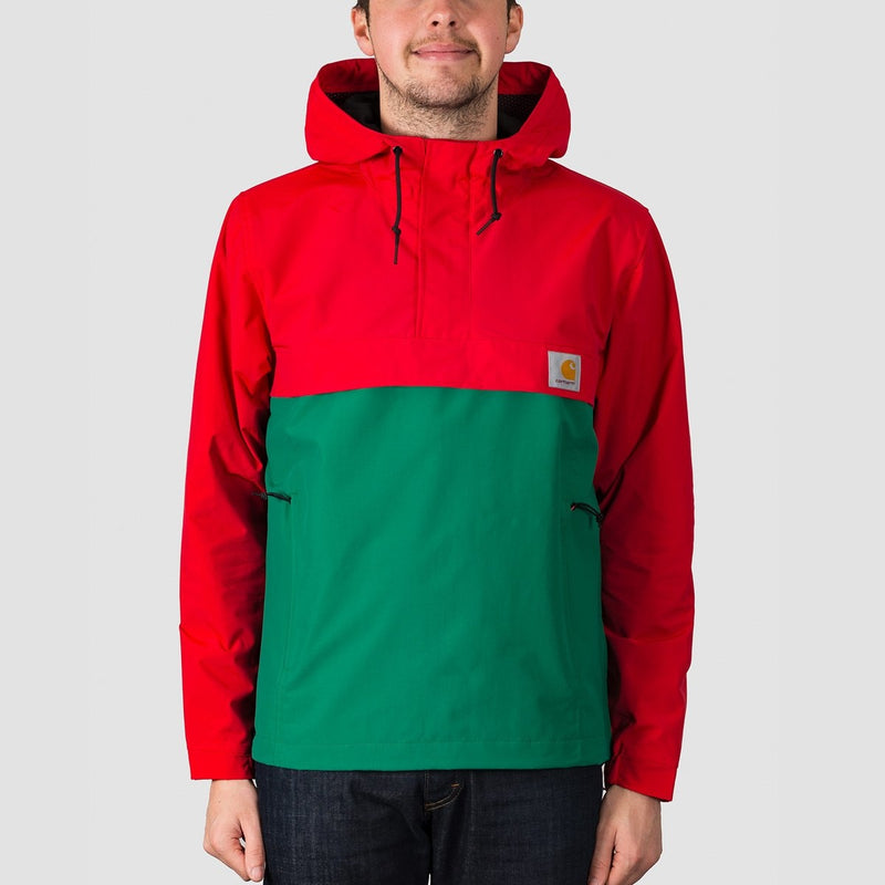 Carhartt WIP Nimbus Two Tone Pullover Jacket Cardinal/Dragon - Clothing