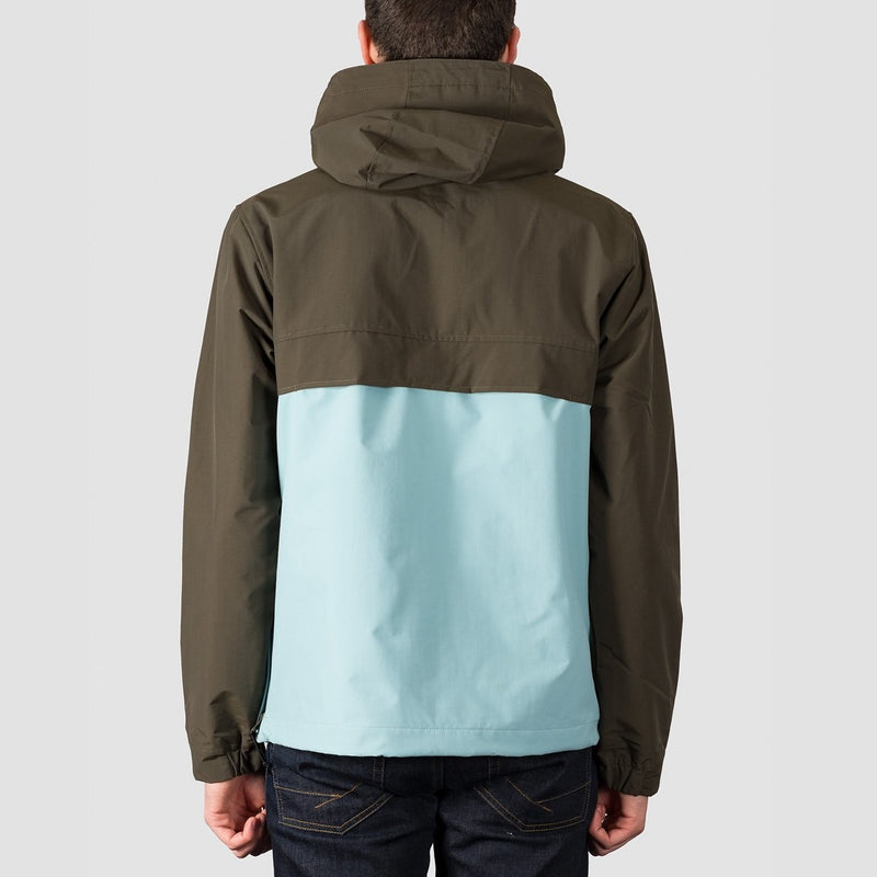 Carhartt WIP Nimbus Two Tone Pullover Jacket Cypress/Soft Aloe - Clothing