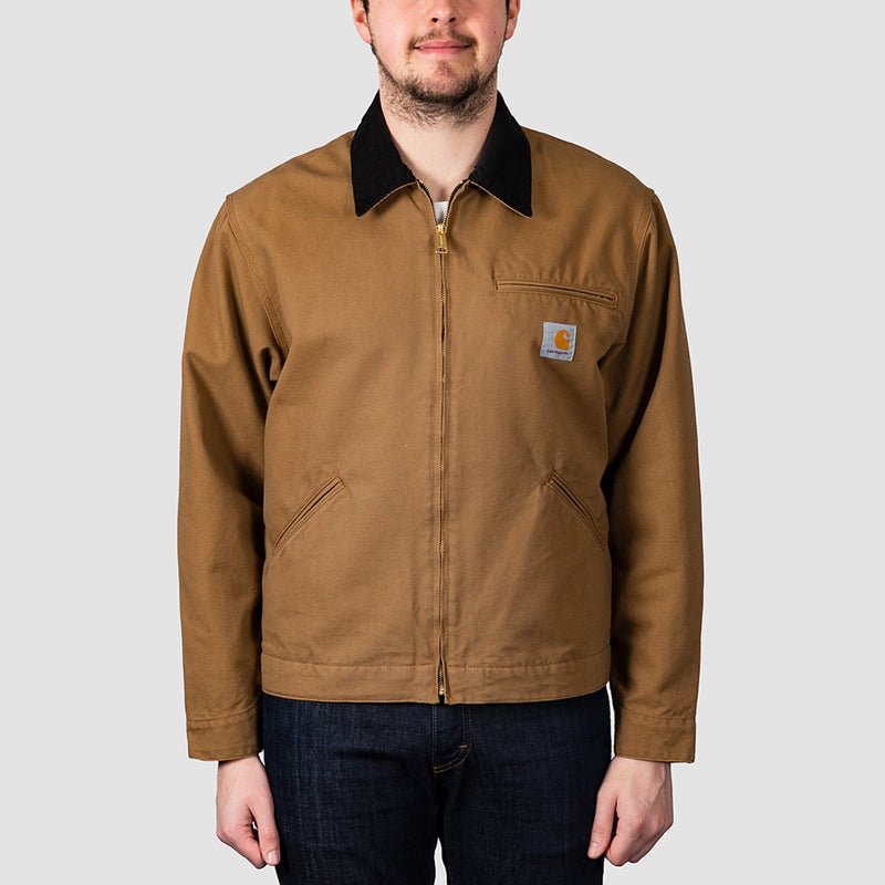 Carhartt WIP OG Detroit Jacket Hamilton Brown/Black Rinsed