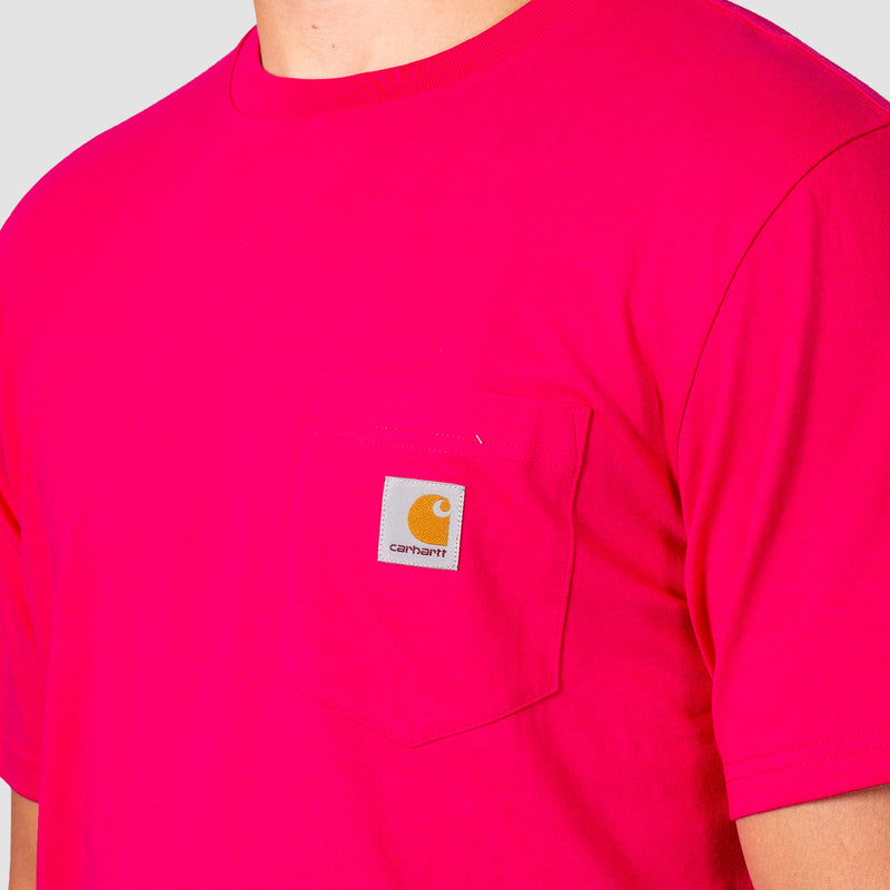 Carhartt WIP Pocket Tee Ruby Pink