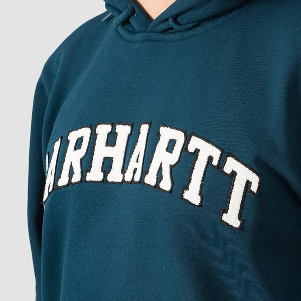 Carhartt WIP Princeton Pullover Hood Duck Blue - Clothing