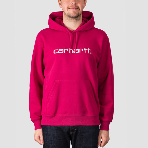 Carhartt WIP Pullover Hood Tango/White - Clothing