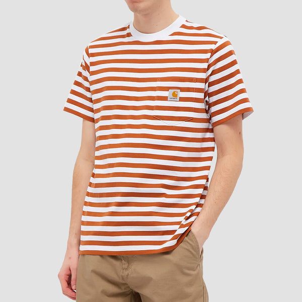 Carhartt WIP Scotty Pocket Tee Scotty Stripe/Rum/White