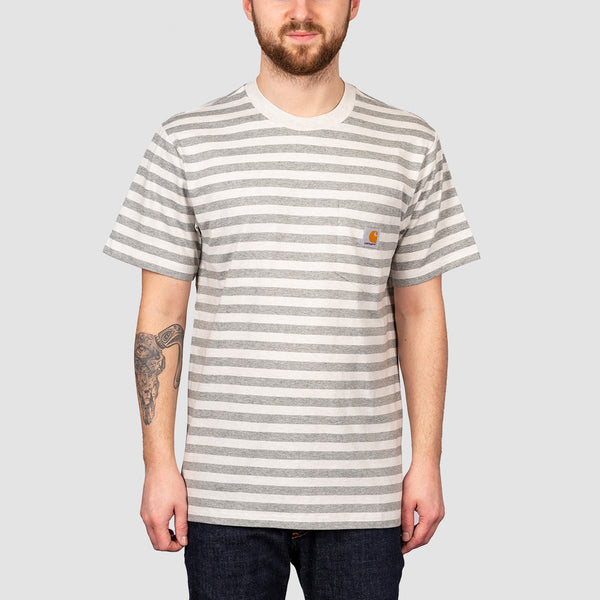 Carhartt WIP Scotty Pocket Tee Scotty Stripe/White Heather/Grey Heather