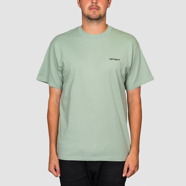 Carhartt WIP Script Embroidery Tee Frosted Green/Black