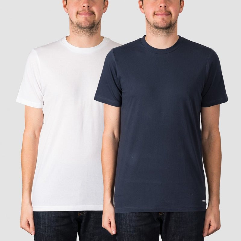Carhartt WIP Standard Crew Neck Tee 2 Pack White/Navy - Clothing