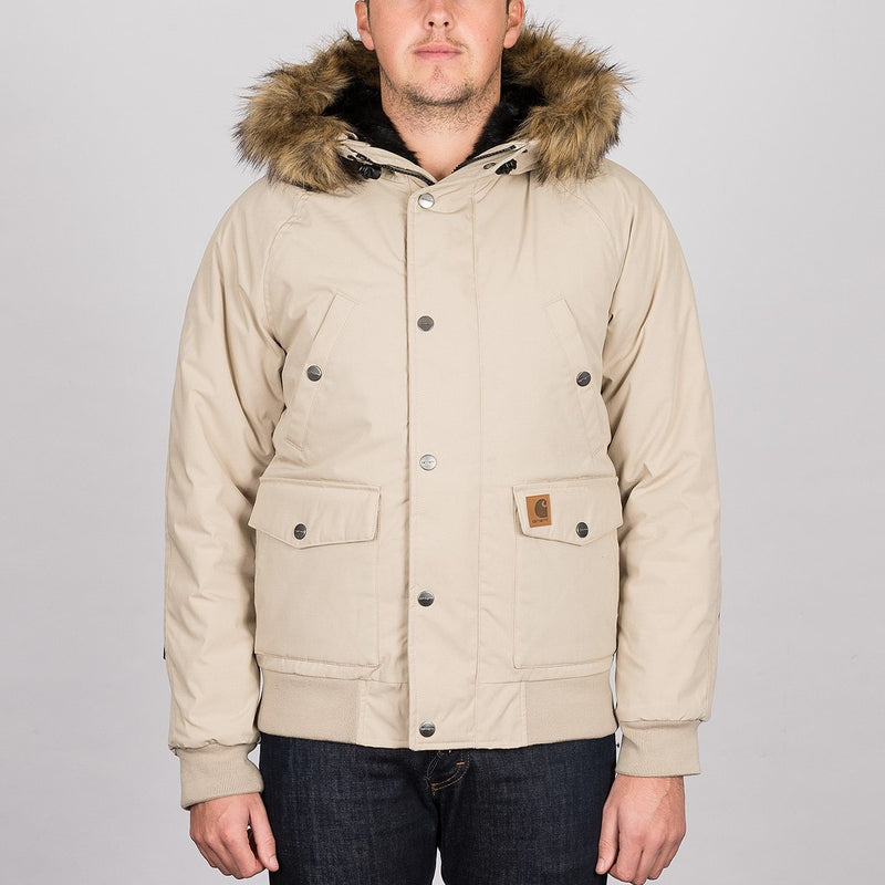 Carhartt WIP Trapper Jacket Wall/Black - Clothing