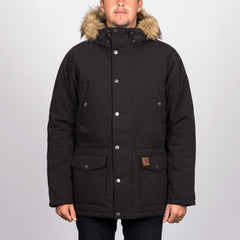 Carhartt WIP Trapper Parka Jacket Black/Black - Clothing