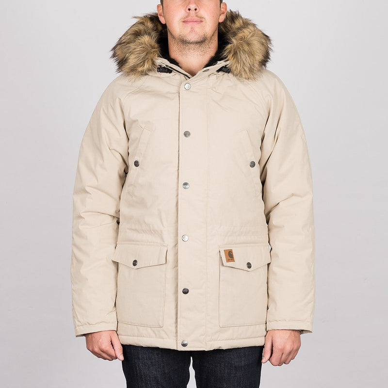 Carhartt WIP Trapper Parka Jacket Wall/Black - Clothing