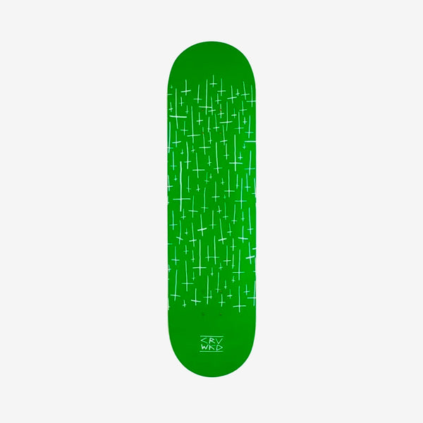 Carve Wicked Logo Team Deck Green - 8.25""