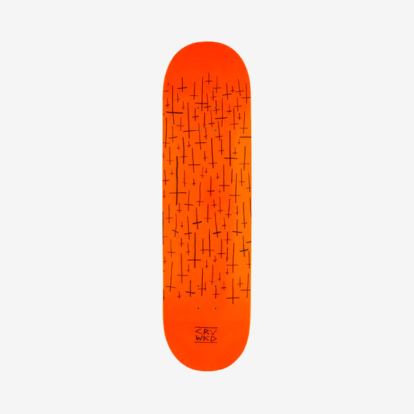 Carve Wicked Logo Team Deck Orange - 8.5""