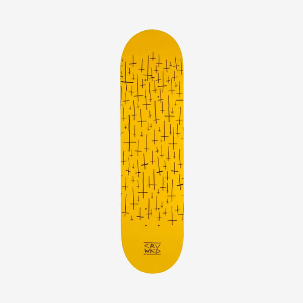 Carve Wicked Logo Team Deck Yellow - 8""