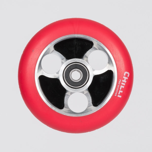 Chilli Pro Parabol Wheel 100mm Red/Black - Scooter