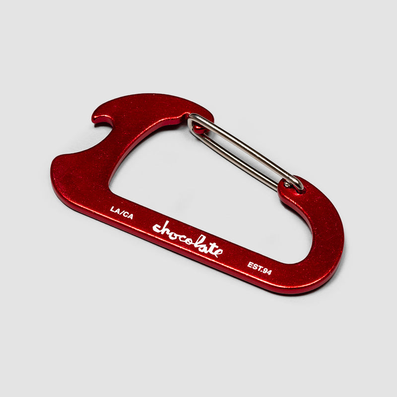 Chocolate Carabiner Keychain Bottle Opener Red
