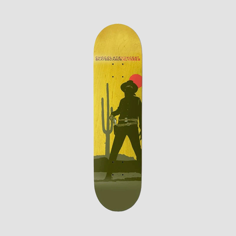Chocolate Hexox Cowboy Vincent Alvarez W39 Deck - 8.5""