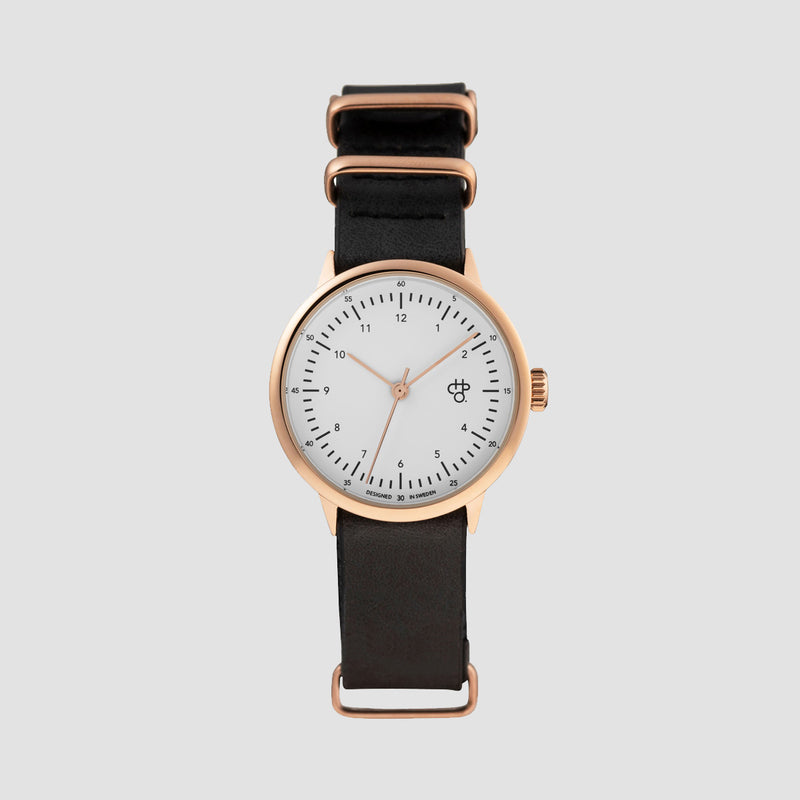 CHPO Harold Mini Watch Rose/Black - Unisex